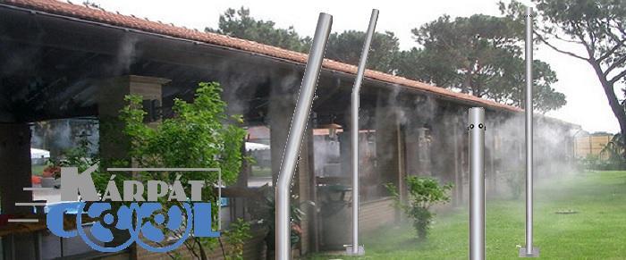 Kárpát-Cool Páraoszlop, Párásító Cső 6 Vízporlasztó – Kültéri Hűtő Fúvókával